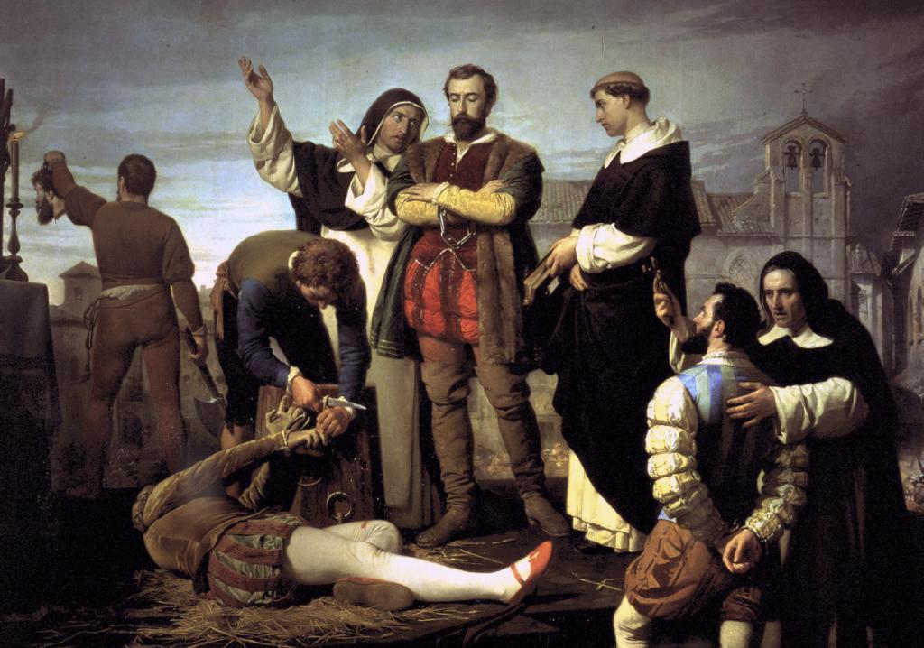 Cuadro 'Ejecución de los comuneros de Castilla', de Antonio Gisbert Pérez.