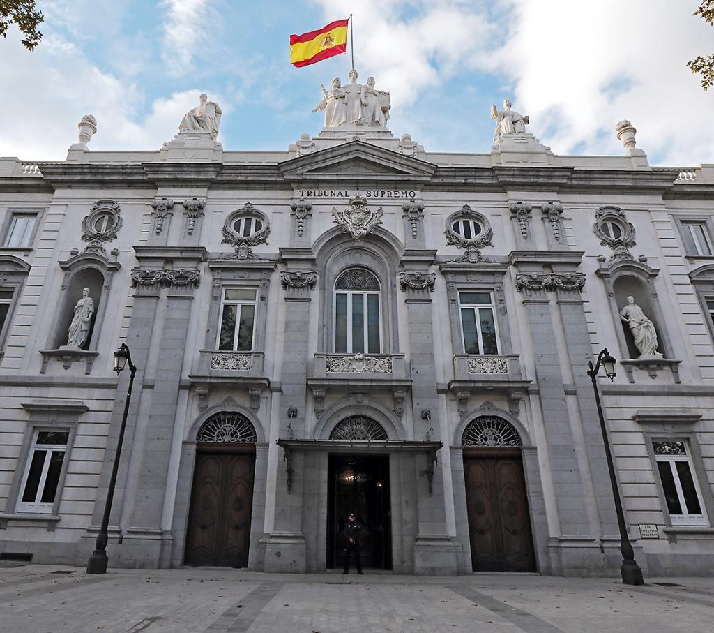 Edifico del Tribunal Supremo, en Madrid.