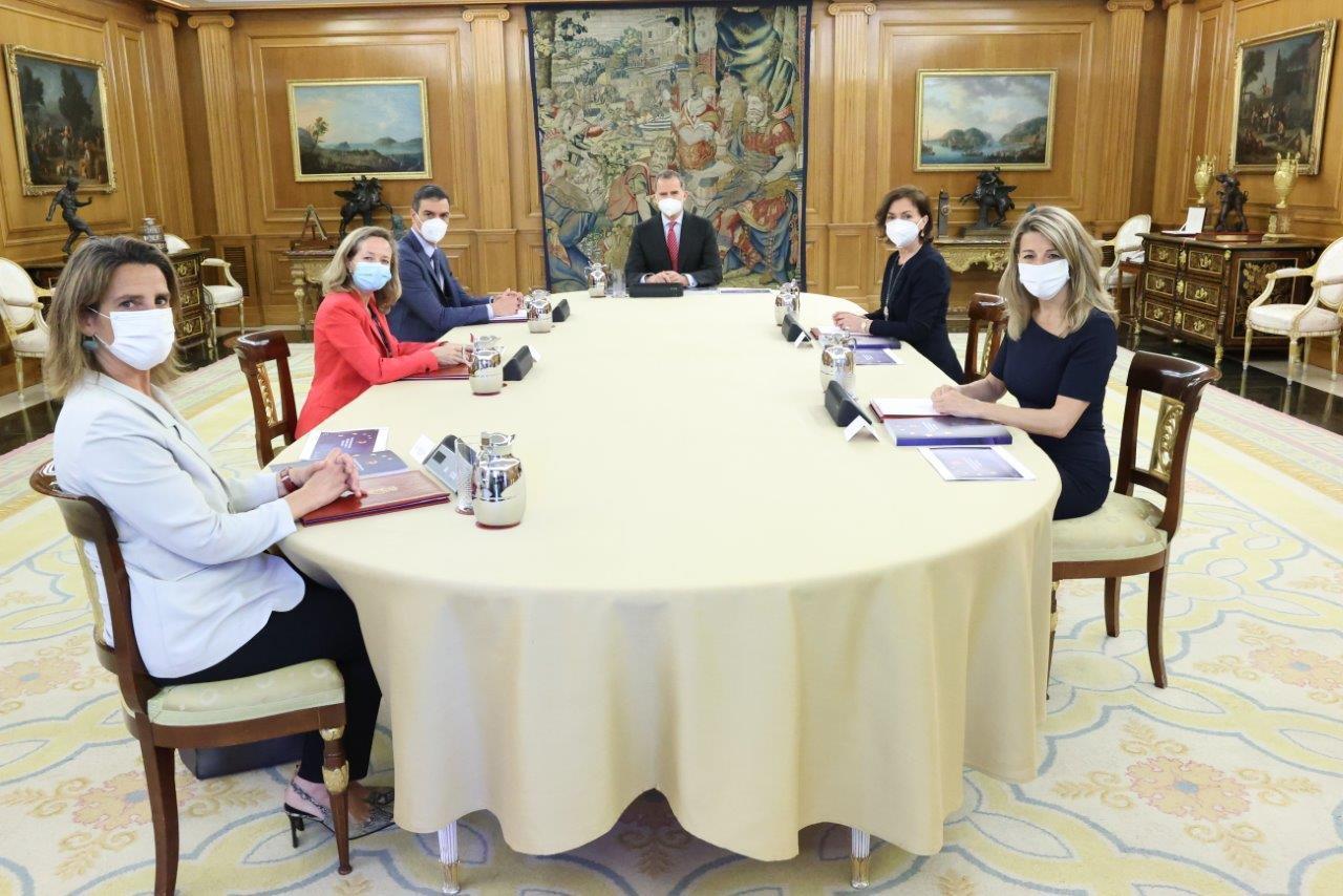 Imagen de la reunión en La Zarzuela.