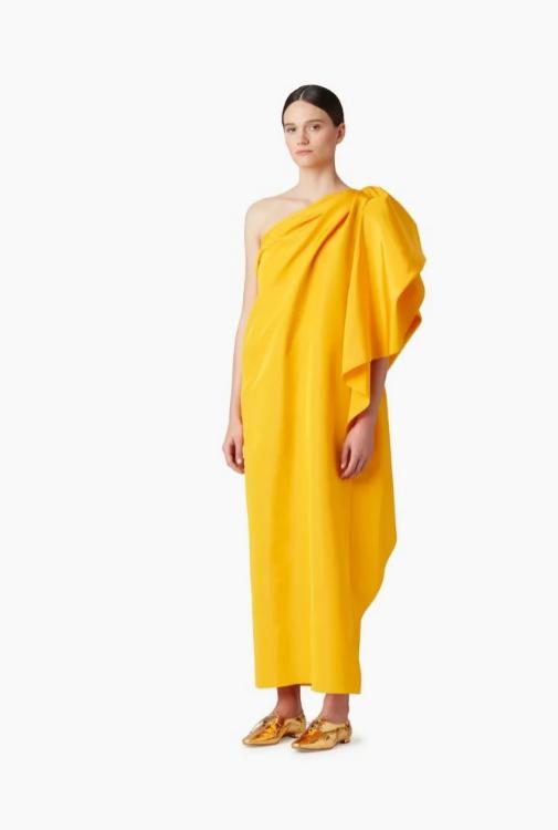 Vestido dorado de Carolina Herrera