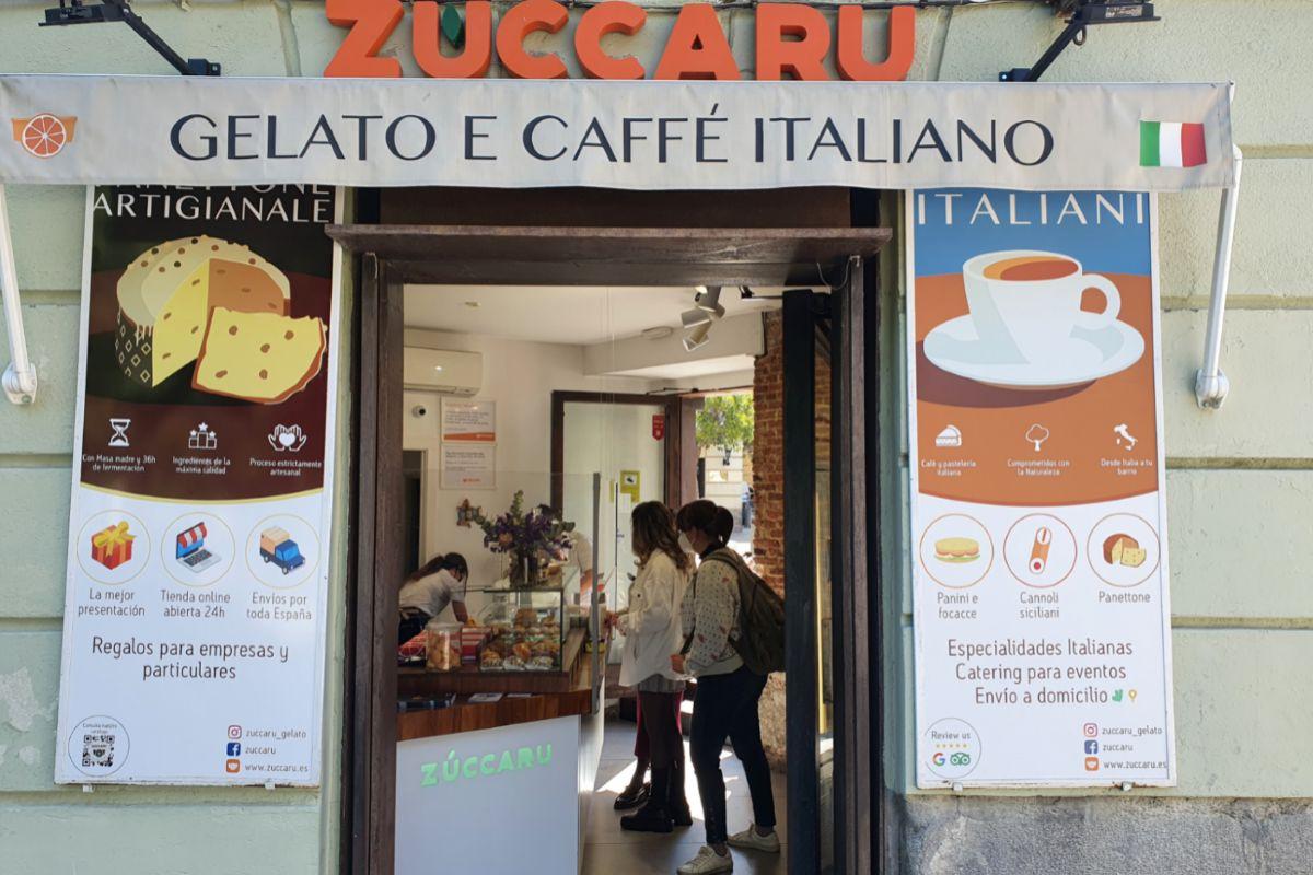 En la tienda se sirve además café italiano.
