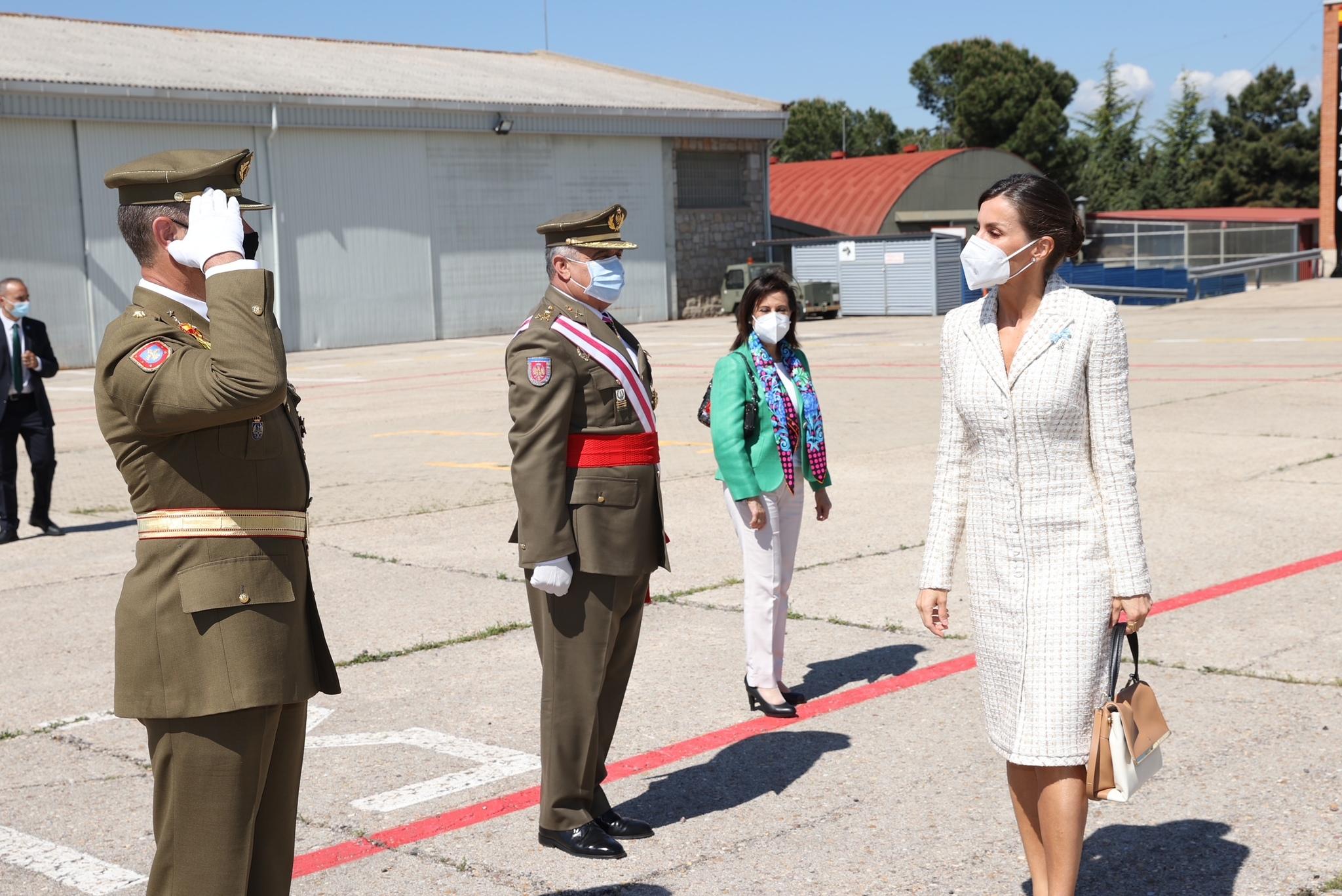 La Reina Letizia en la Academia de Aviación del Ejército de Tierra.