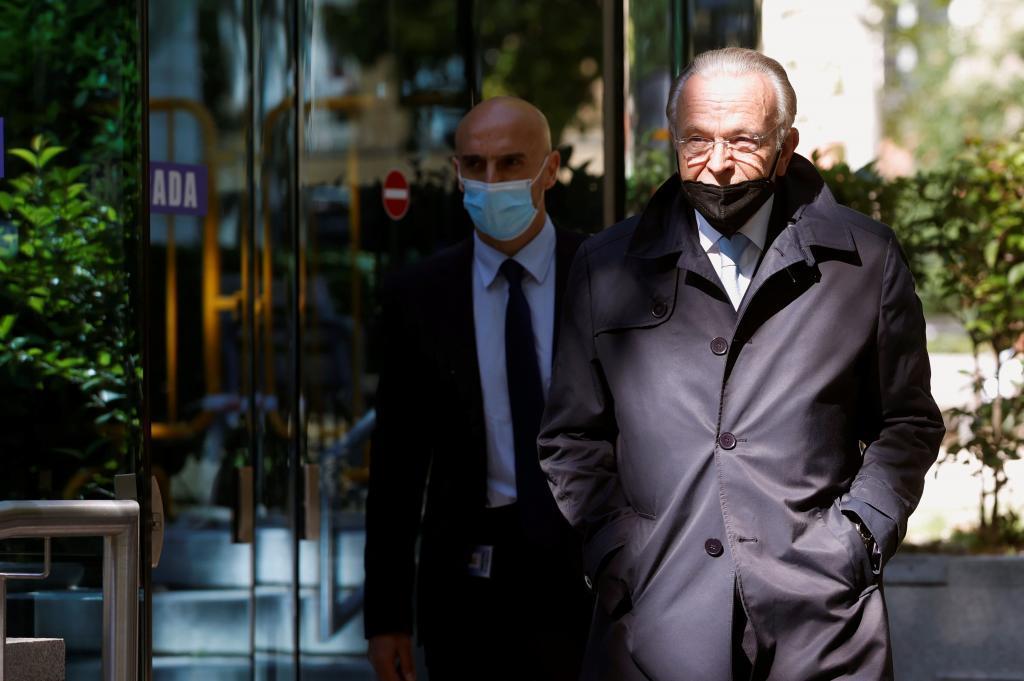 Isidro Fainé, a su salida de la Audiencia Nacional.