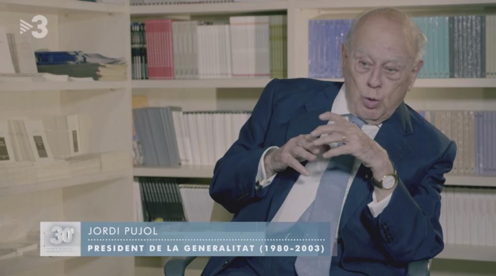 Jordi Pujol, en una comparecencia en abril en TV3.
