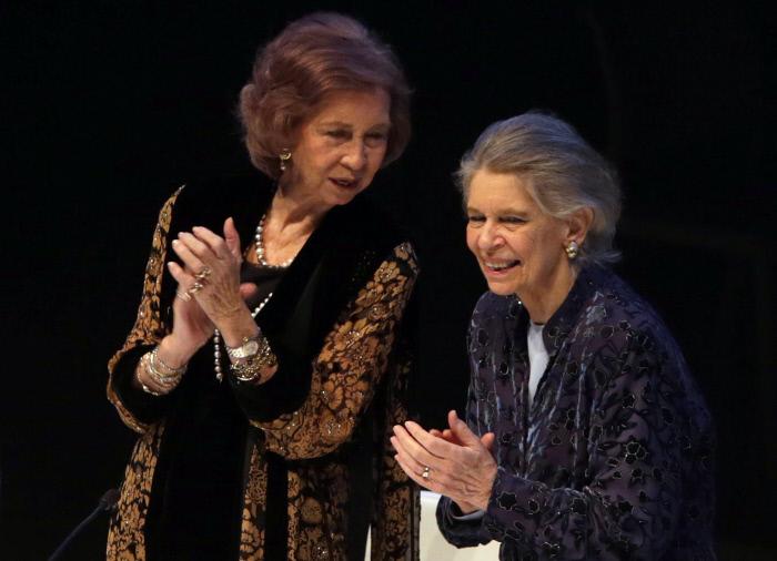 La Reina Sofía y la princesa Irene.