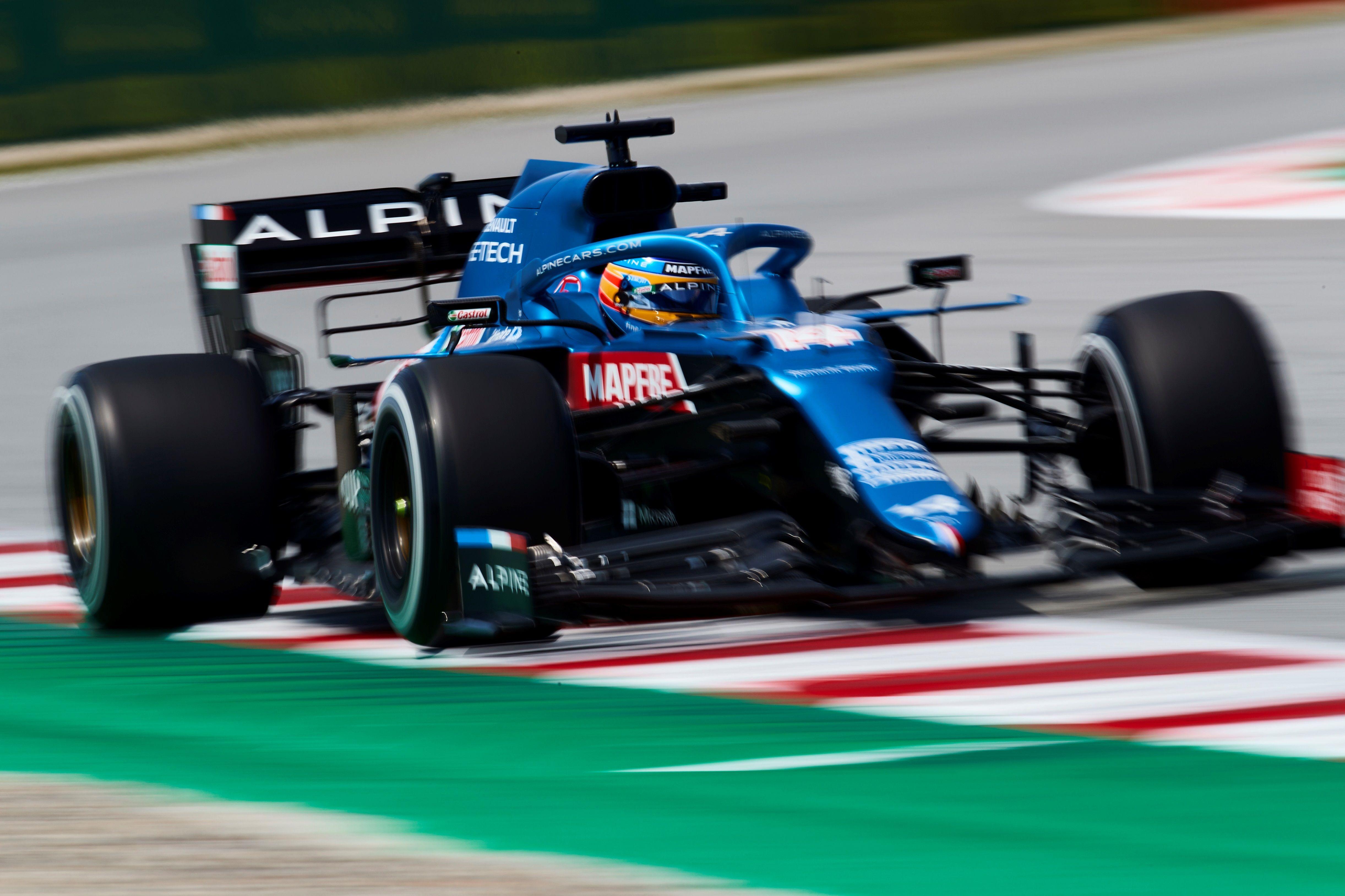 Alonso, con el A521, el viernes en Montmeló.
