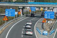 Imagen de la autovía entre Sevilla y Cádiz tras suprimir el peaje, en enero de 2020.