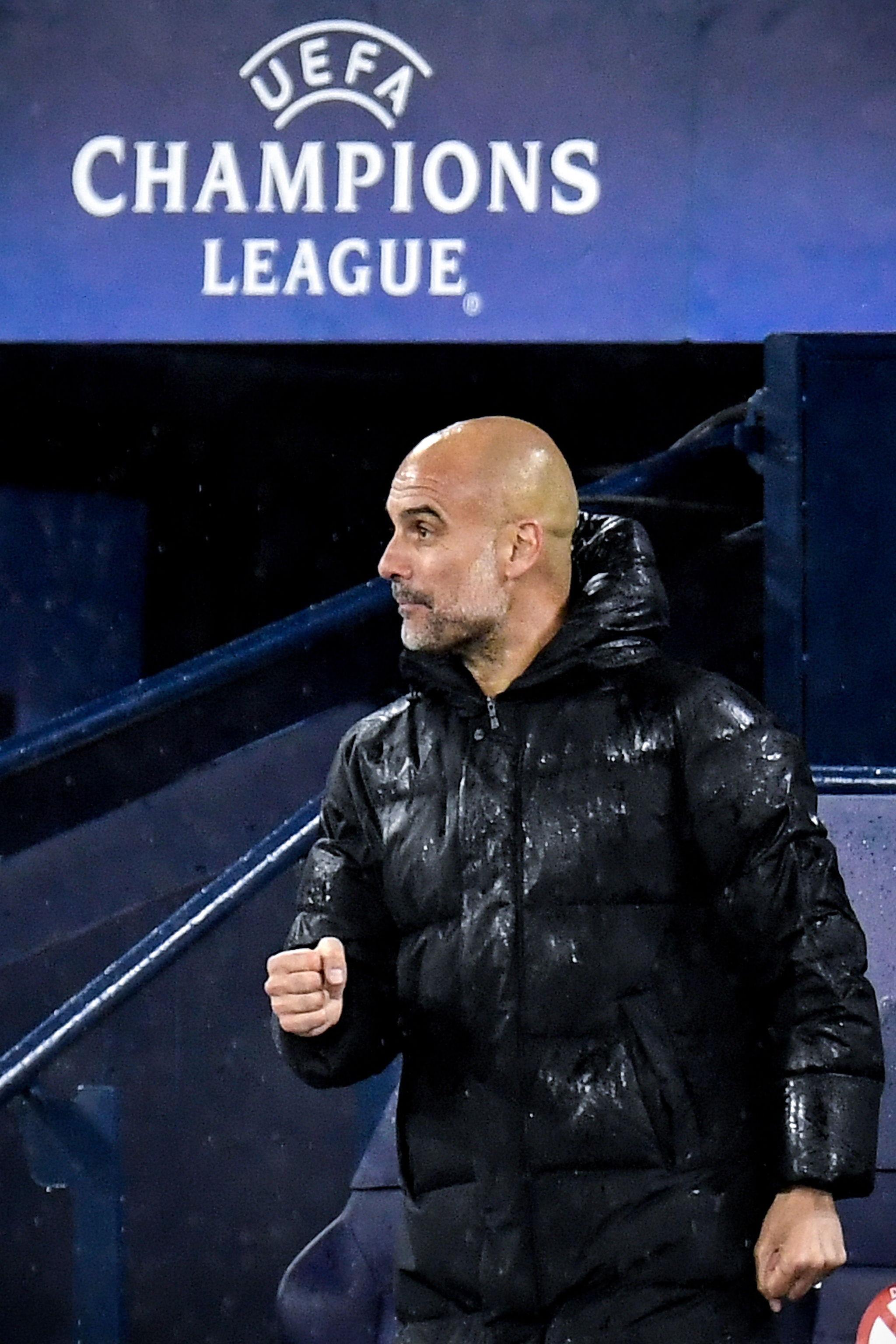 Pep Guardiola, durante un partido del City.