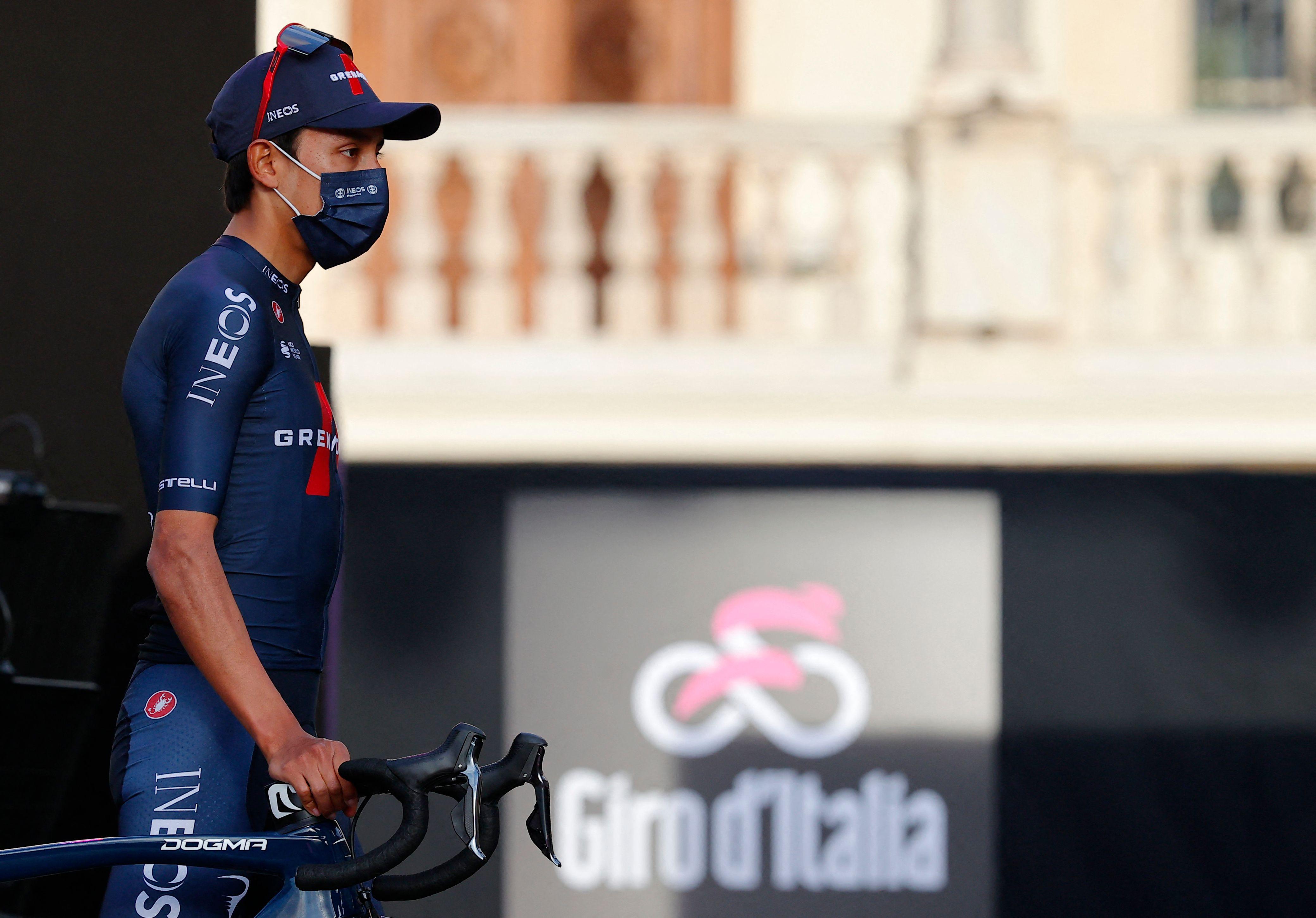 Egan Bernal, antes de arrancar el Giro.