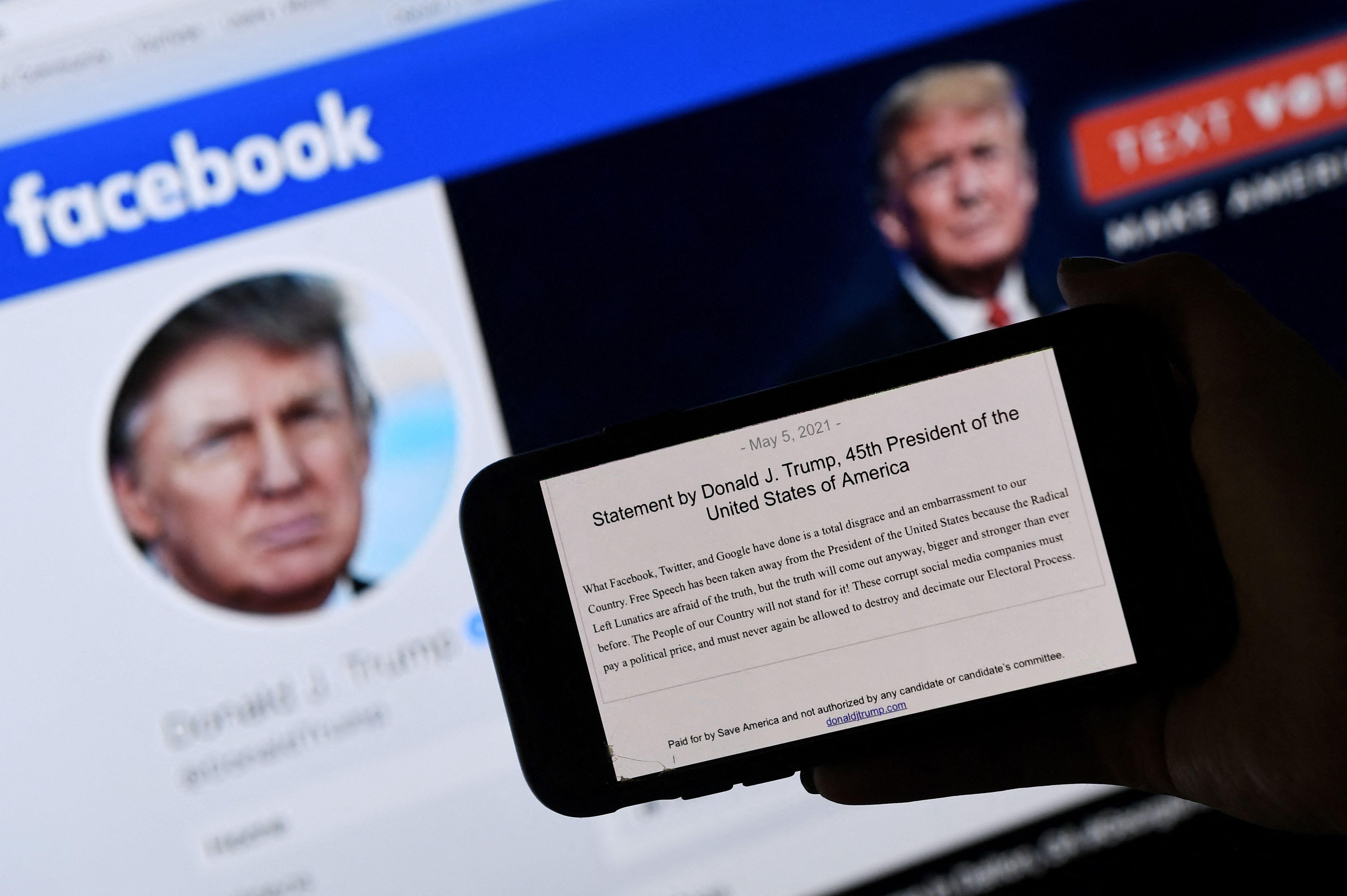 Las libertades, tras el choque Facebook-Trump