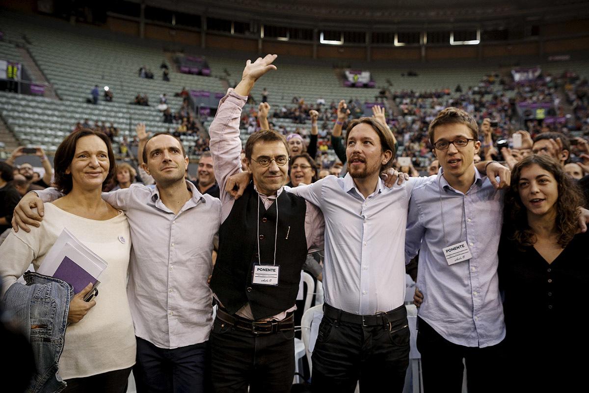 La cúpula de Podemos, en 2014.