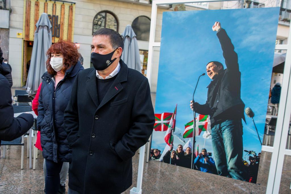 Otegi, en un acto en Vitoria en marzo