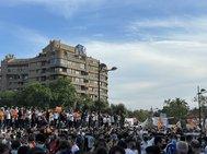 Miles de valencianistas, este sábado en la protesta contra Peter Lim.