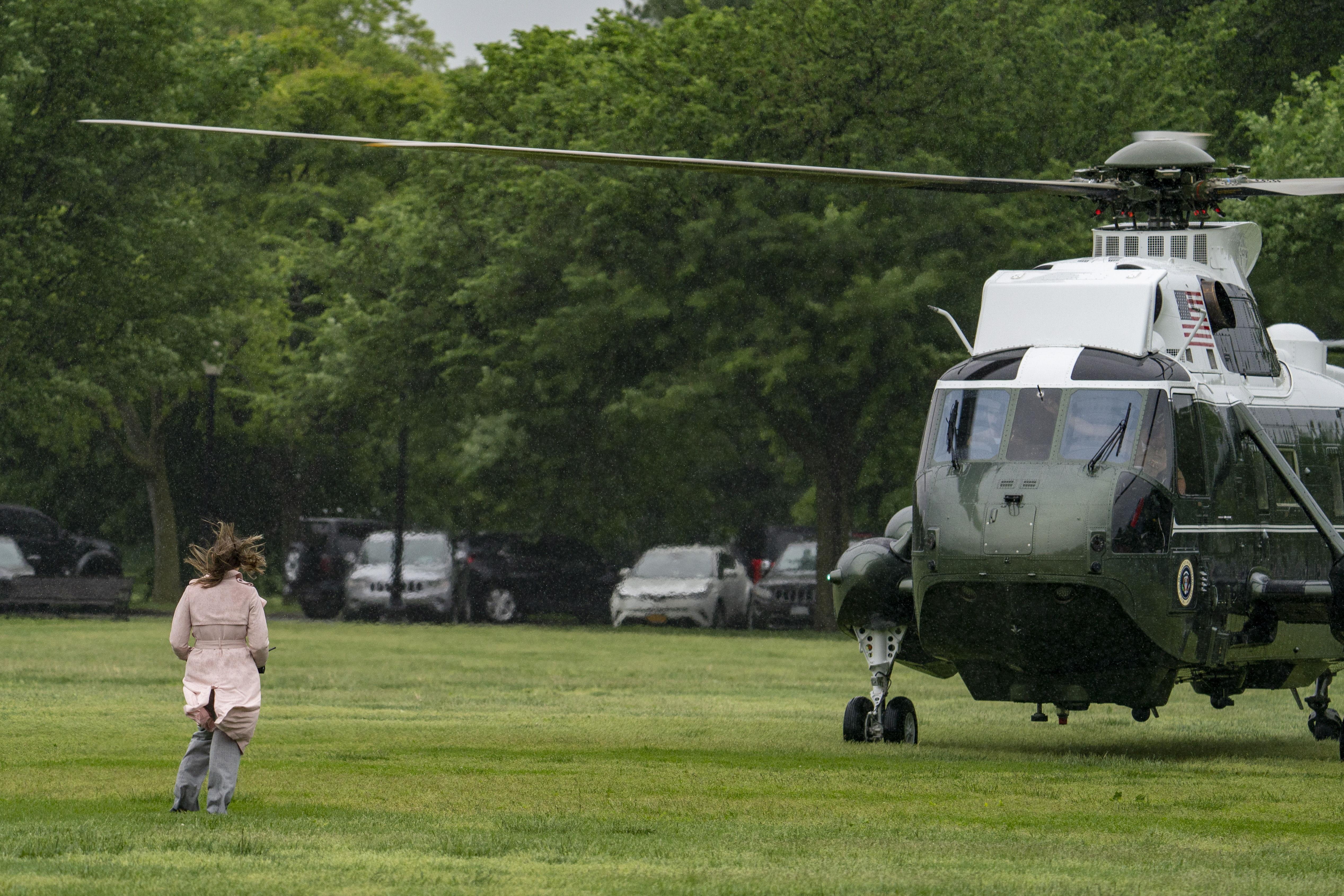 El presidente Biden, llegando a Camp David.