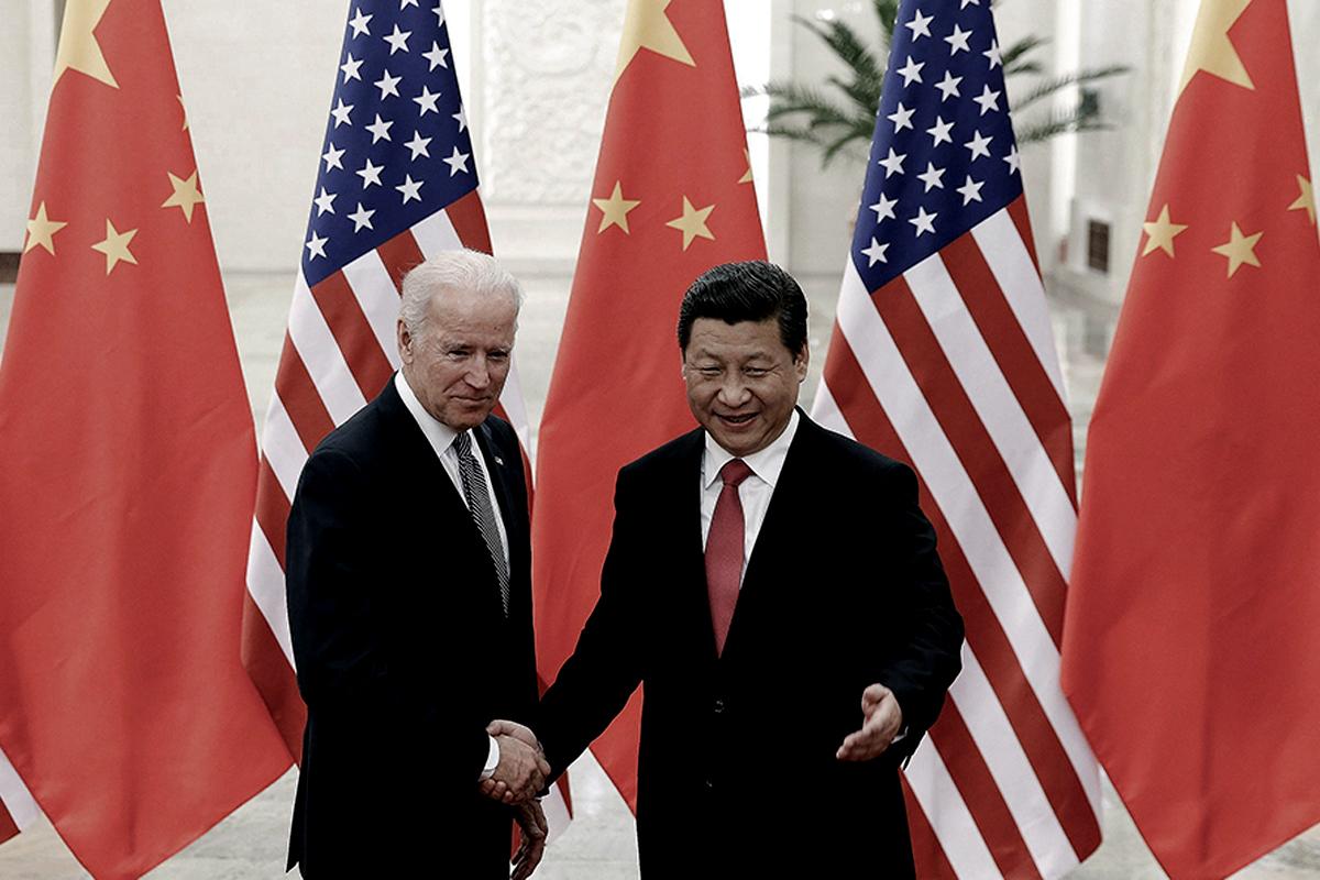 Los presidentes Joe Biden y Xi Jinping presidentes de USA y China compiten en la batalla por el 5G.
