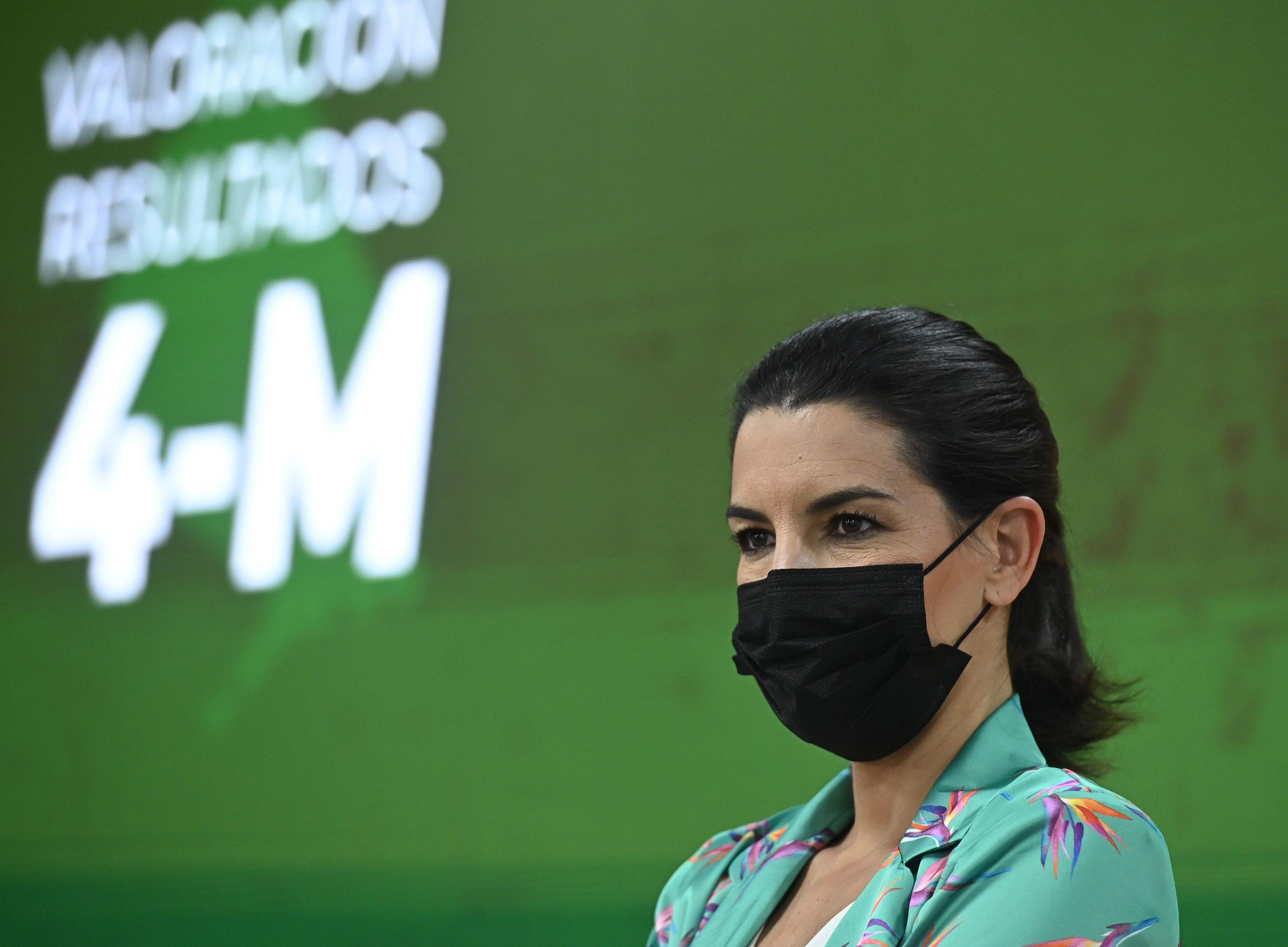 Rocío Monasterio, en la noche electoral del 4 de mayo.