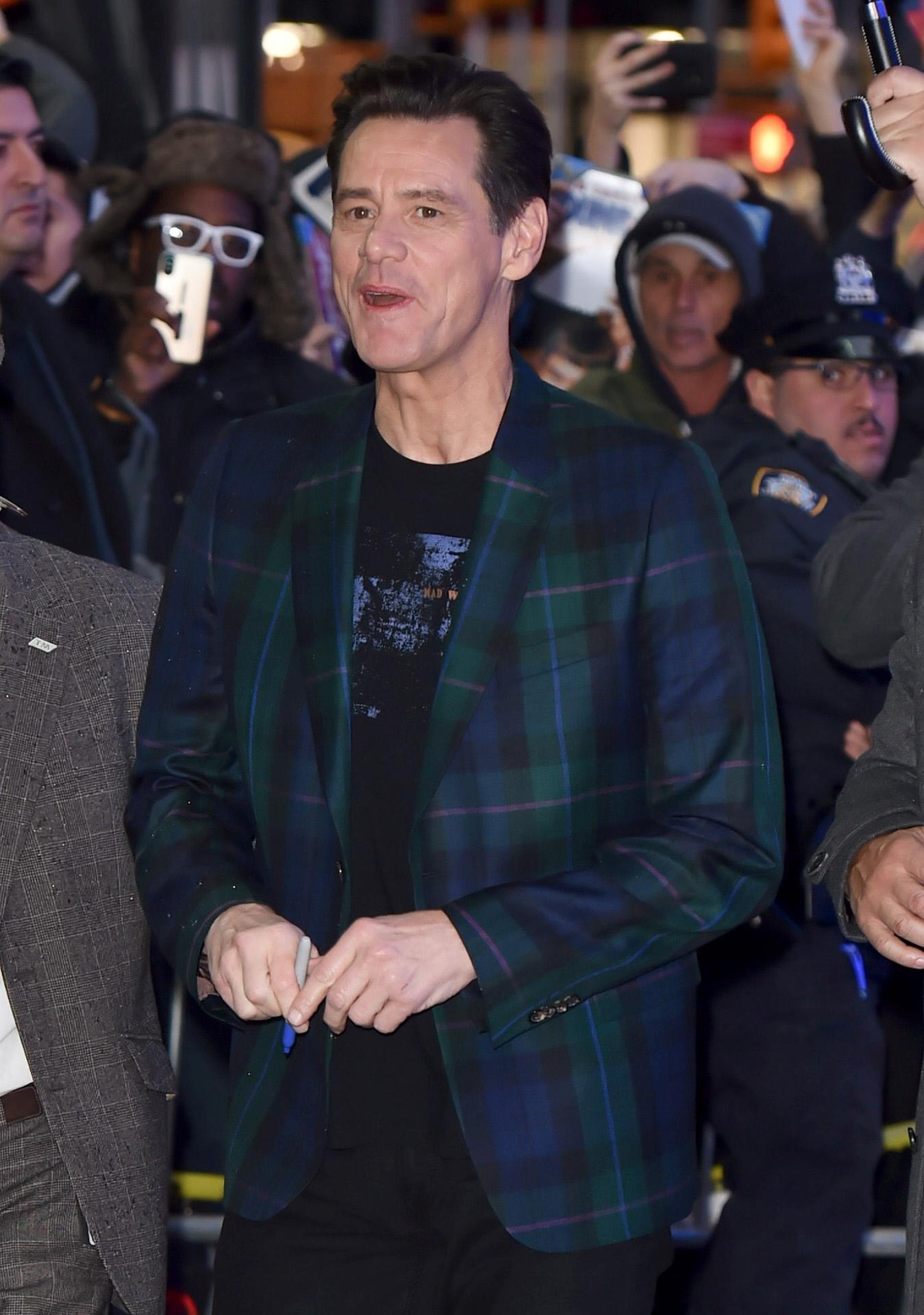 Jim Carrey, en un estreno celebrado en febrero de 2020.