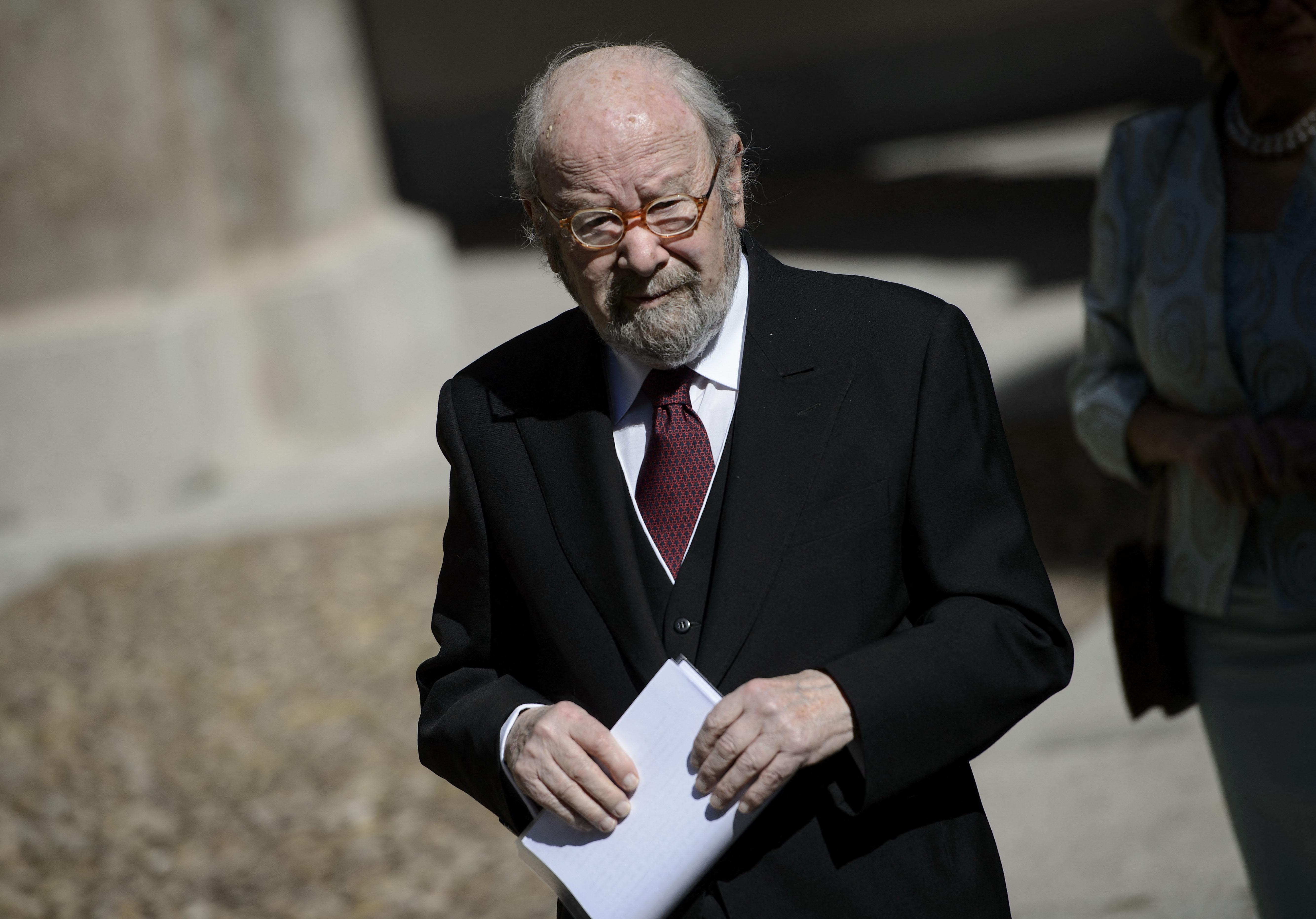 El poeta Caballero Bonald, el día de la entrega del Premio Cervantes, en 2012.