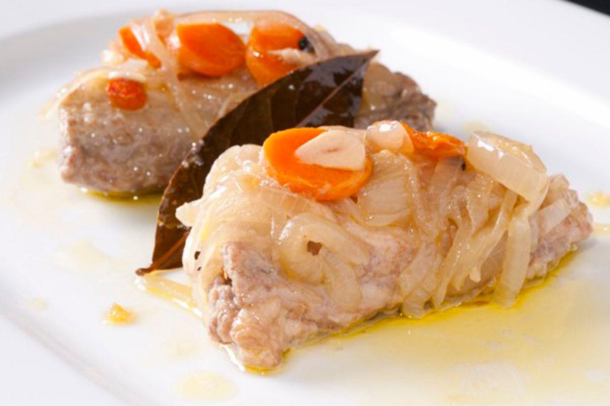 Escabeche de ventresca de atún blanco de Ponzano.