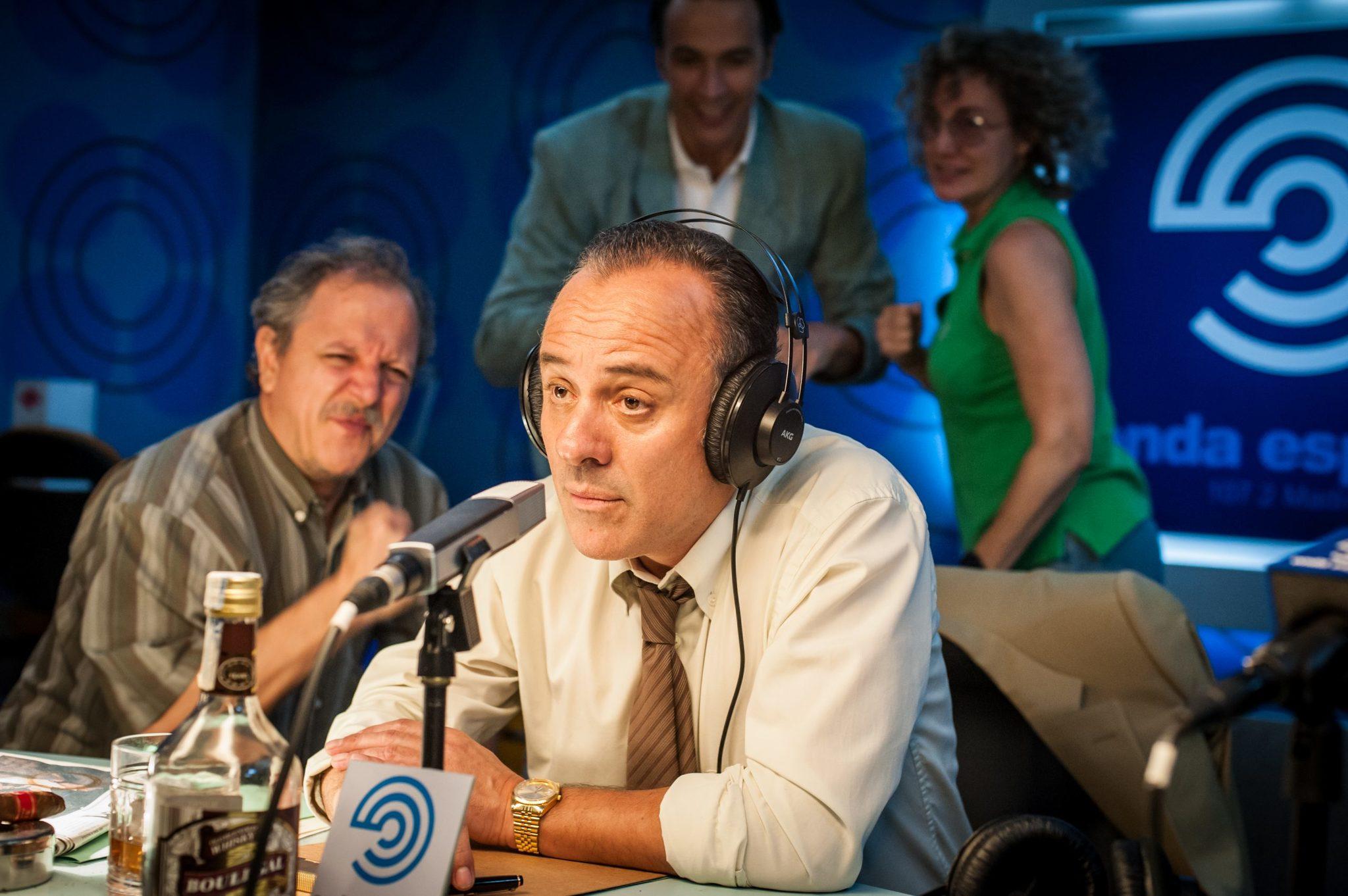 Javier Gutiérrez, caracterizado como José María García