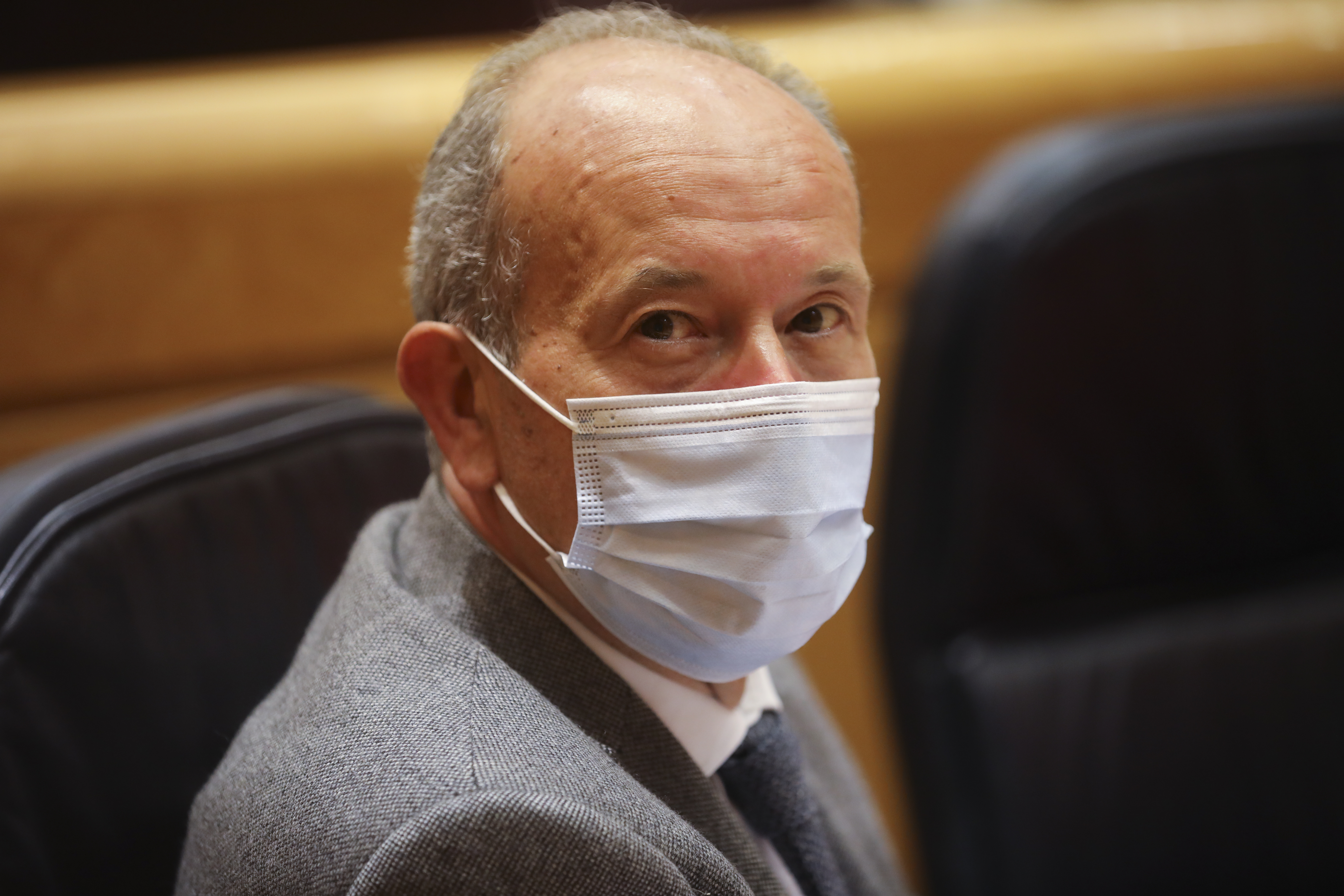 El ministro de Justicia, Juan Carlos Campo, en abril en el Senado.