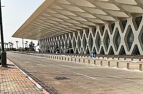 Aeropuerto de Marrakech el pasado 30 de marzo