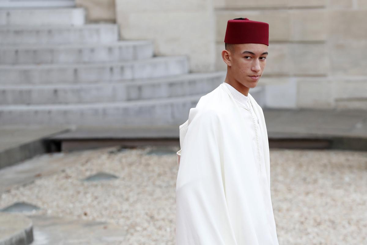 El príncipe Mulay Hasan de Marruecos.