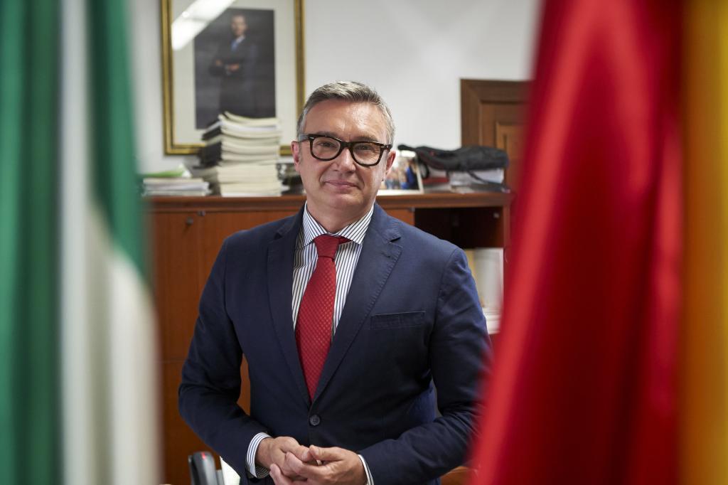 El portavoz de Vox en el Parlamento andaluz, Manuel Gavira.