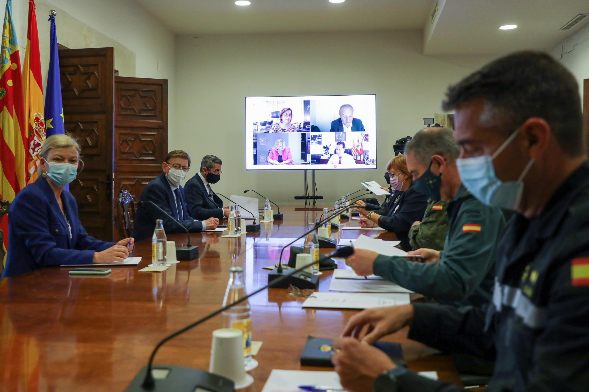 Reunión de coordinación de seguridad este lunes en la Generalitat.