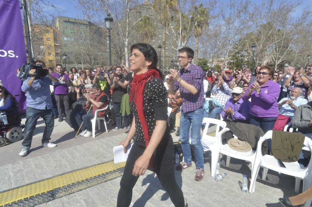Rodríguez y Errejón, durante un acto de Podemos en 2015.