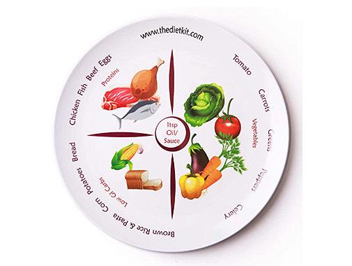 Plato de control alimenticio, de The Diet Kit.