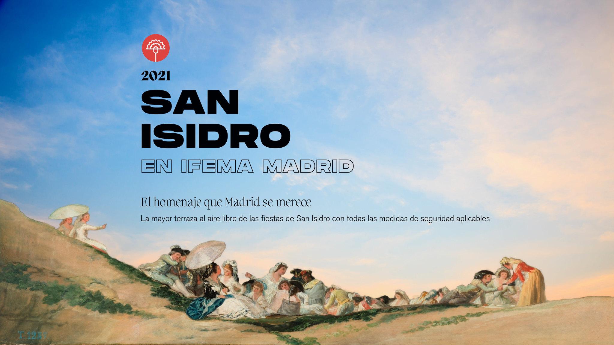 Cartel promocional de las fiestas madrileñas de San Isidro 2021.