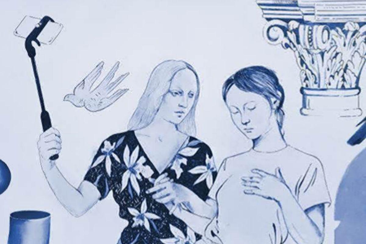 Detalle del mural realizado por el dúo artístico Los Bravú.