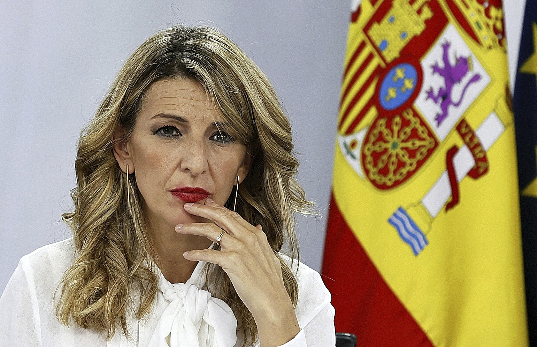 Yolanda Díaz, este martes en La Moncloa.