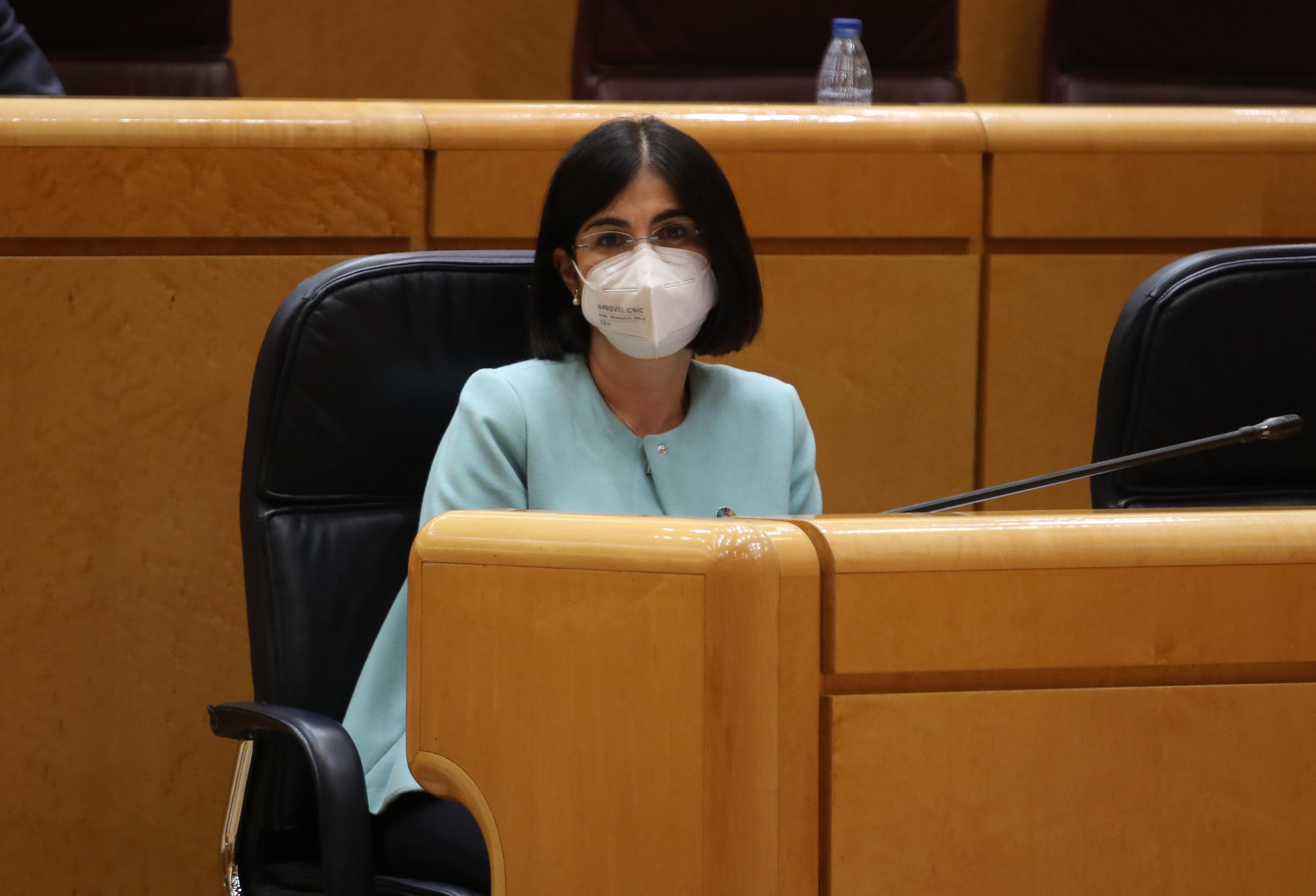 Sesión de control al gobierno en el senado, Carolina Darias, ministra de Sanidad.
