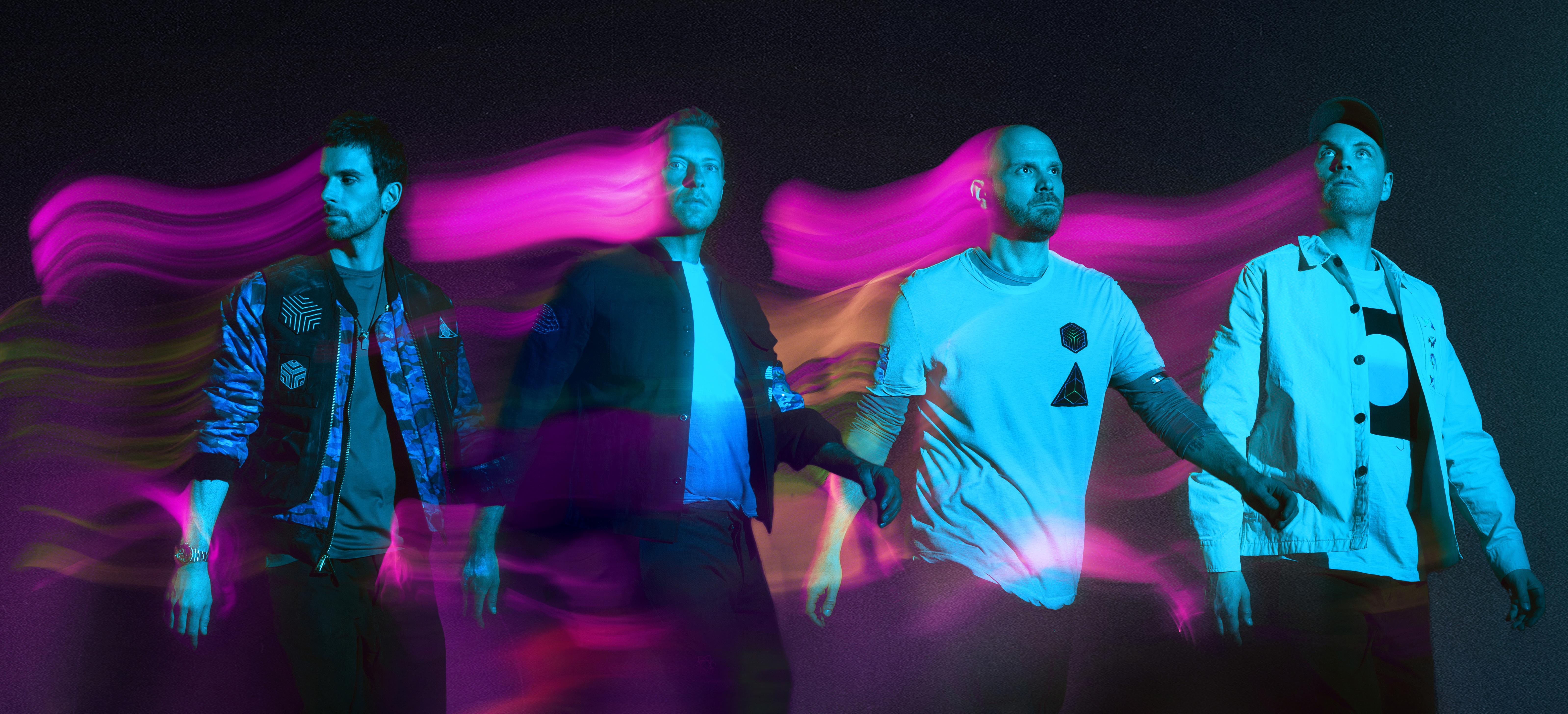 Coldplay, durante su actuación.