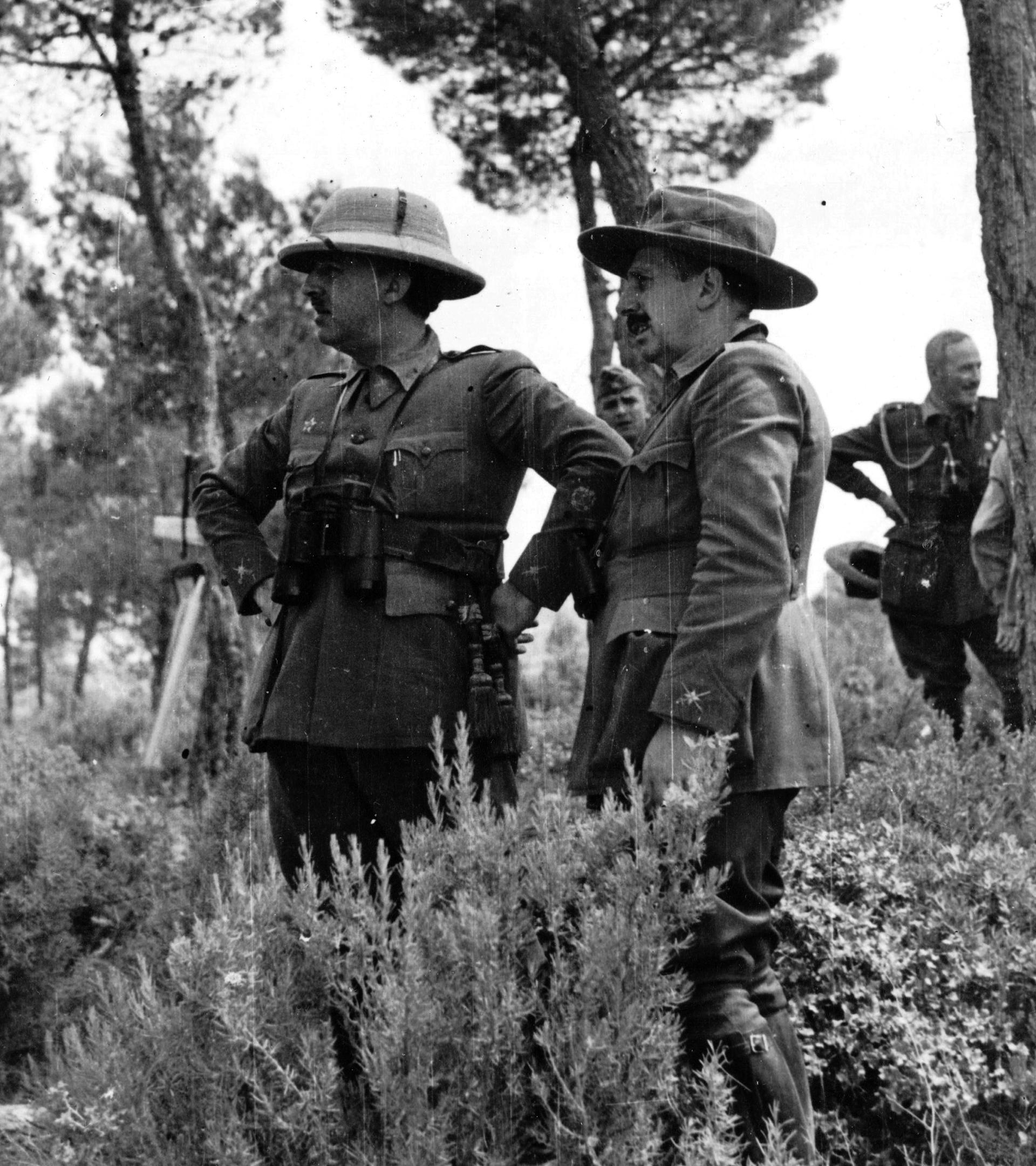 Franco y el general Dávila.