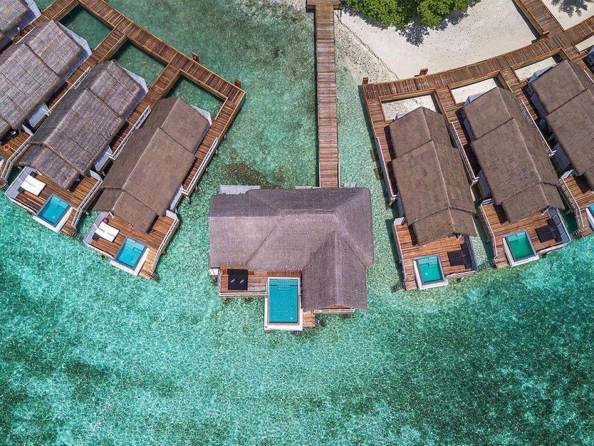 Uno de los lujosos resorts de Maldivas.