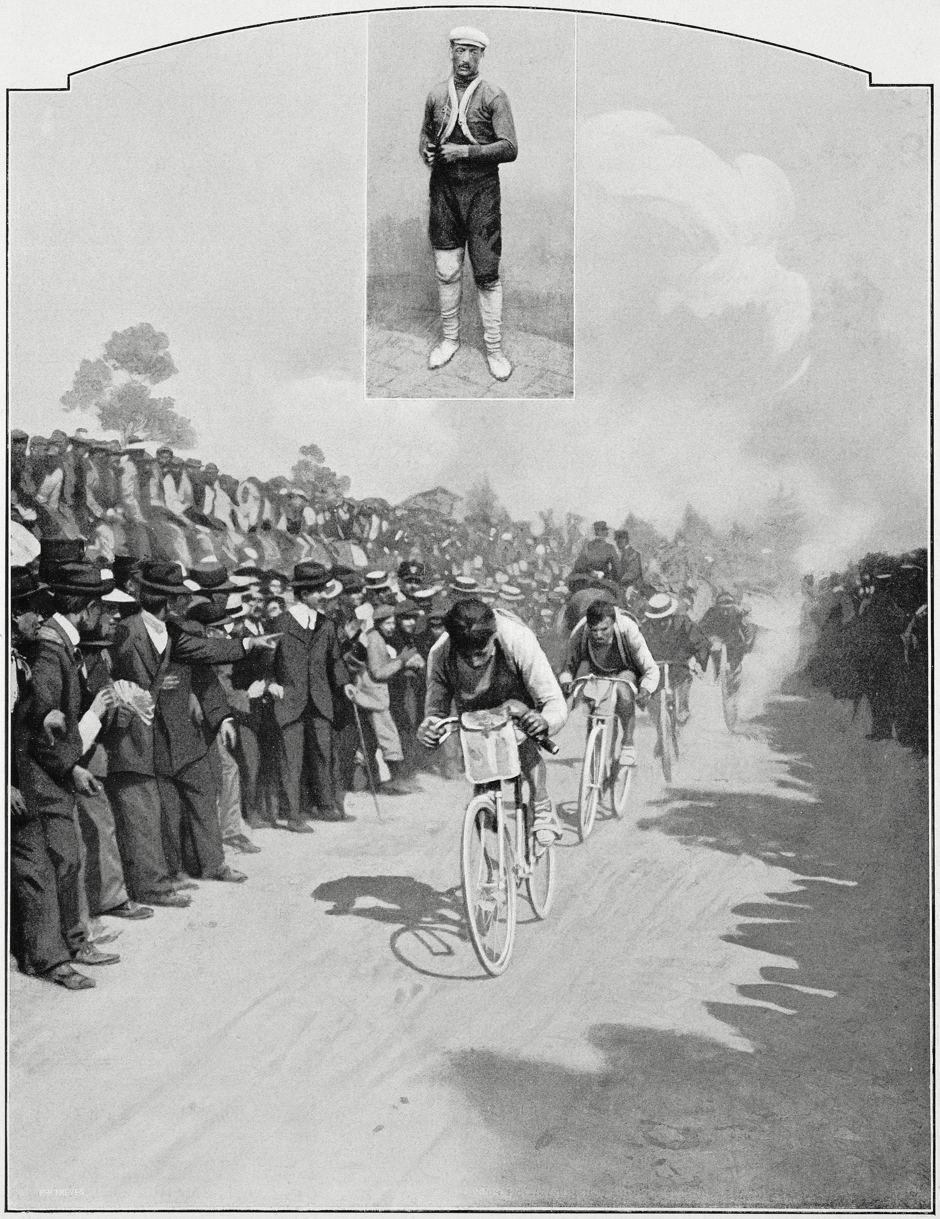 Luigi Ganna, ganador de la primera edición del Giro, en 1909