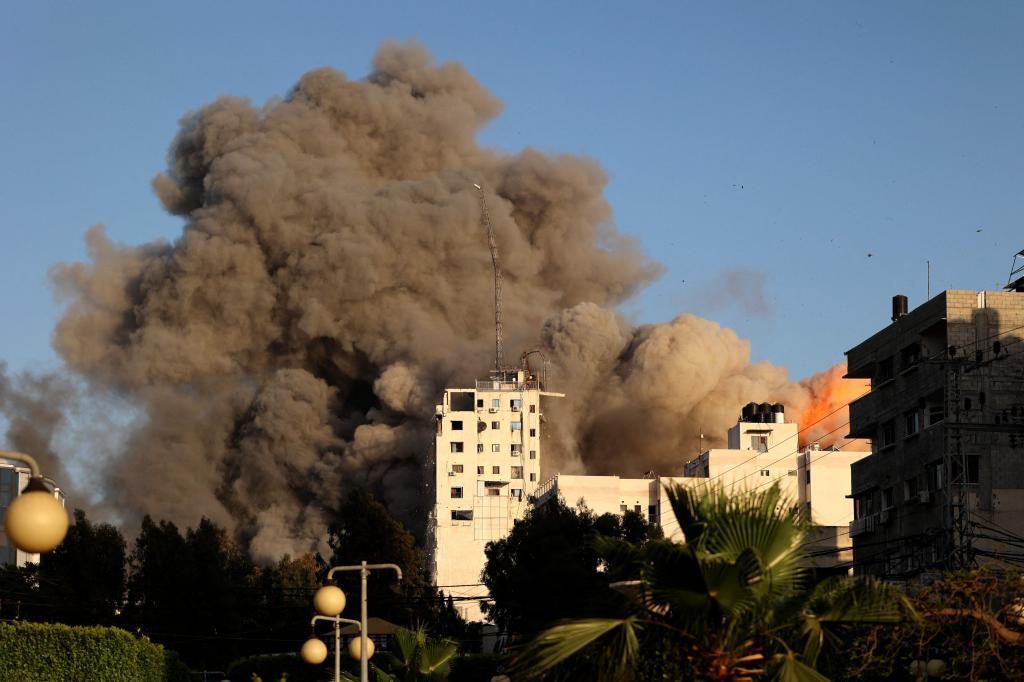 Bombardeo israelí sobre Gaza.
