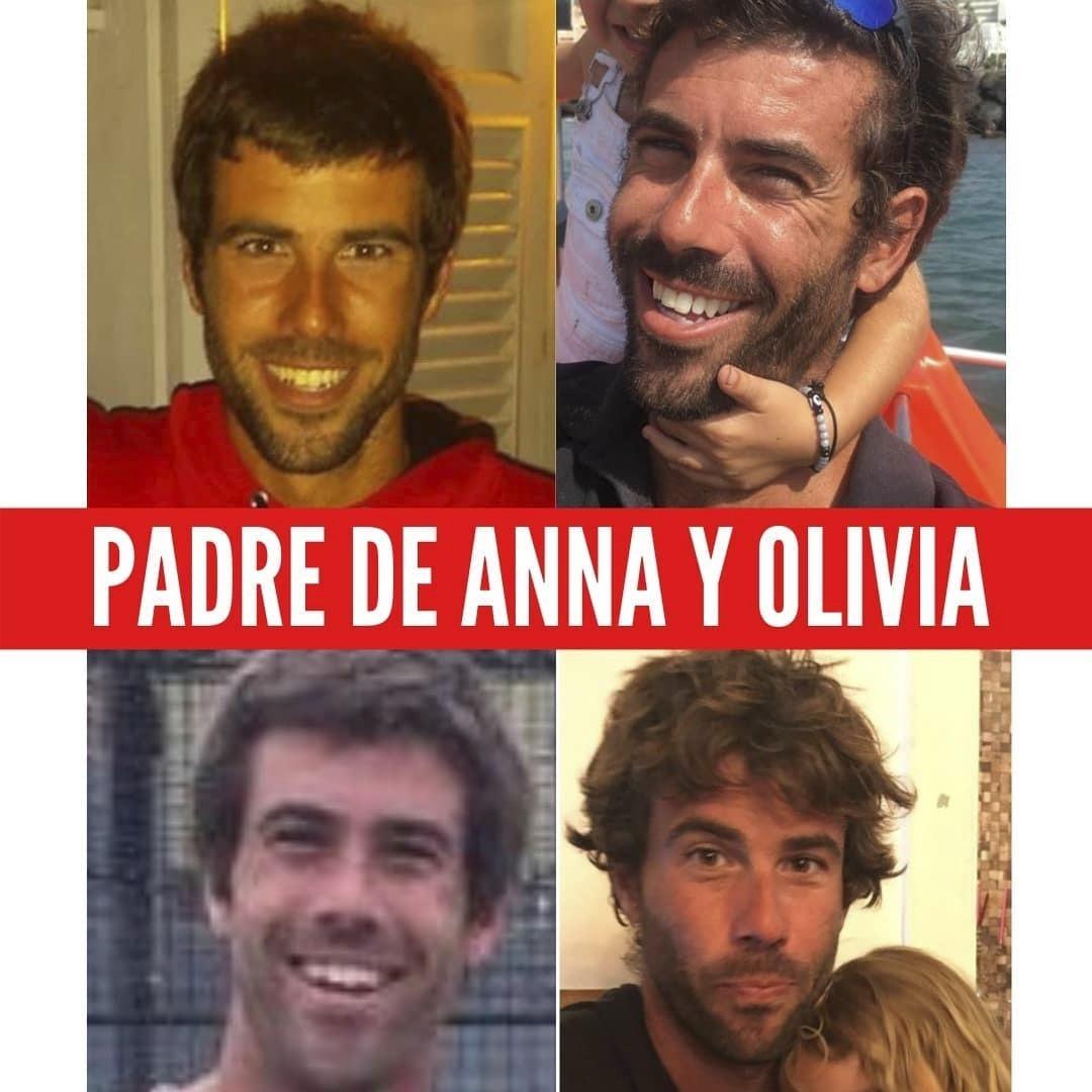 El padre de Anna y Olivia, Tomás Gimeno.