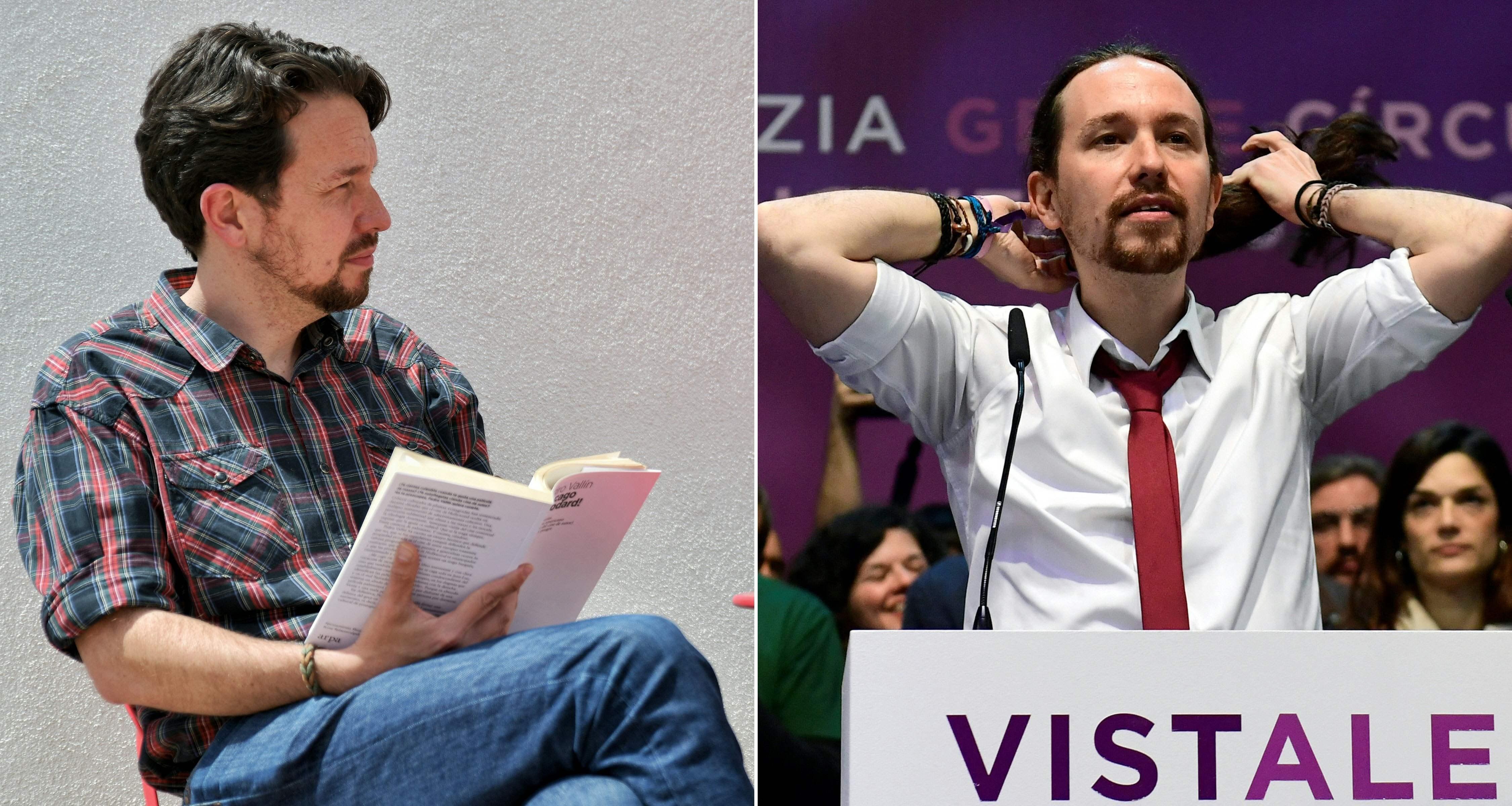 Combinación de fotos con el antes y el después de Iglesias.