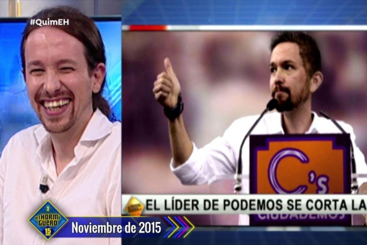 El Hormiguero predijo en 2015 que Pablo Iglesias se cortaría la coleta