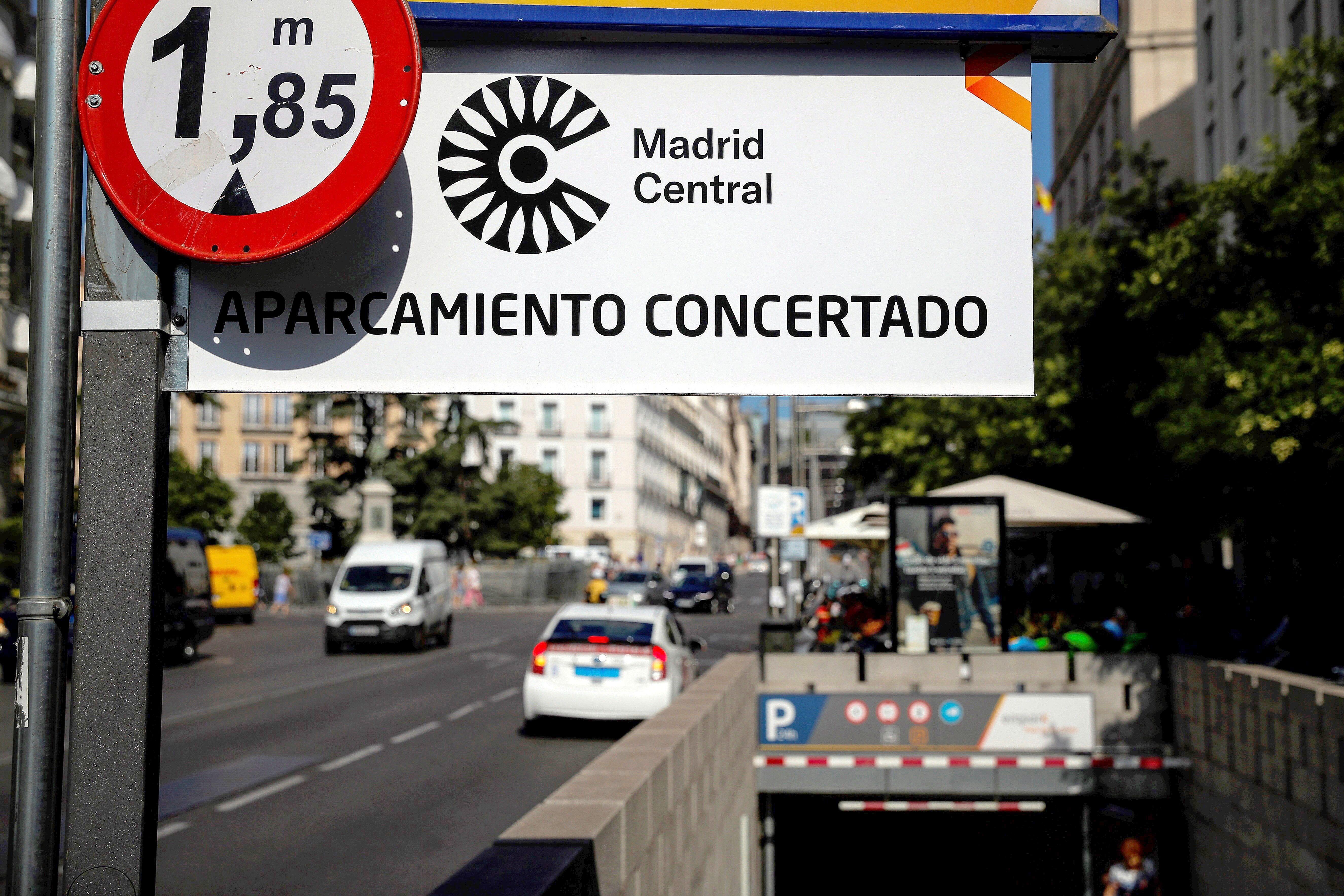 Una de las entradas de Madrid Central en una imagen de 2019.