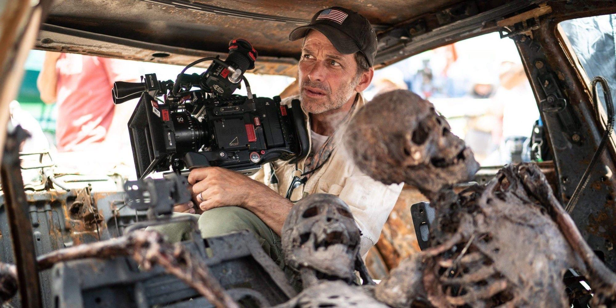 Zack Snyder en un momento del rodaje de 'Ejército de los muertos'.