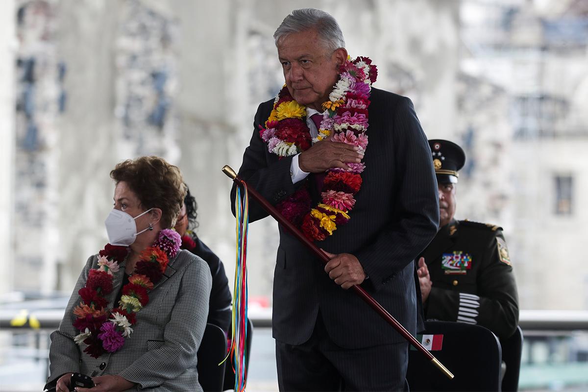 Andrés Manuel López Obrador, en la conmemoración de la fundación de Tenochtitlan.