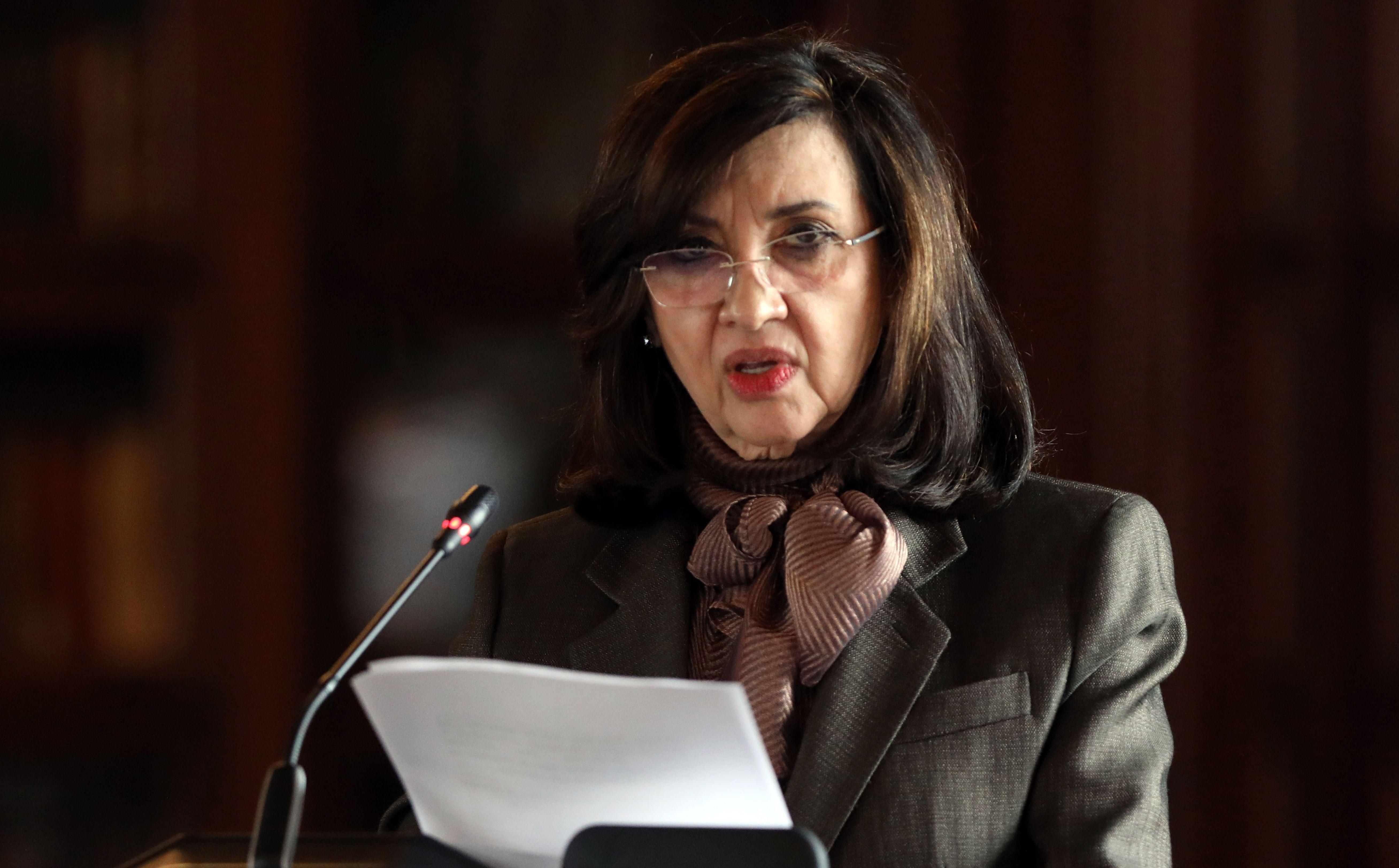 La canciller de Colombia, Claudia Blum.