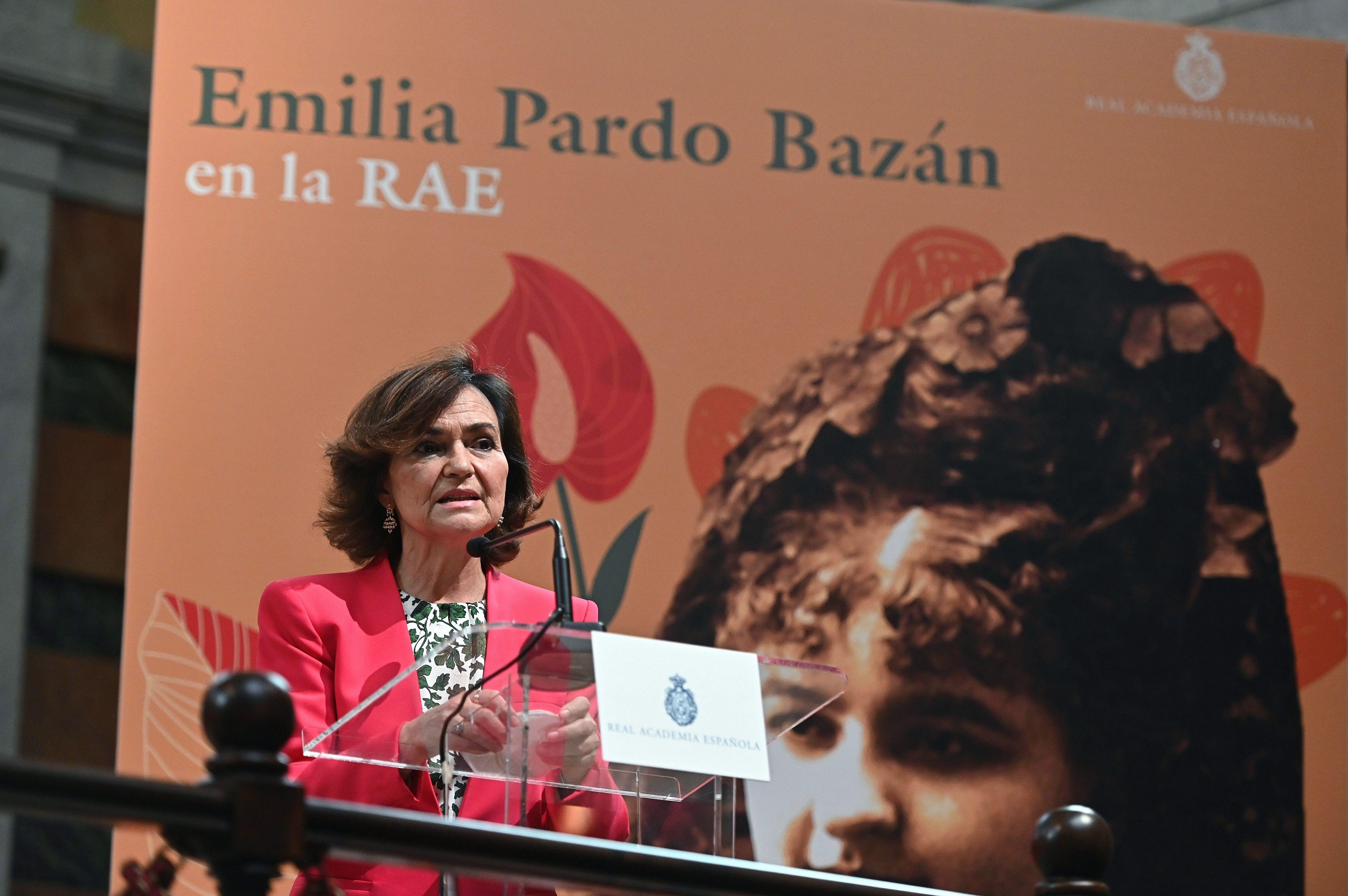 La vicepresidenta primera, Carmen Calvo.
