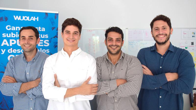 Francisco Martínez, director de contenido; Enrique Ruiz, COO; Javier Ruiz, director de ventas y Jaime Quintero, Ceo de Wuolah CEDIDA