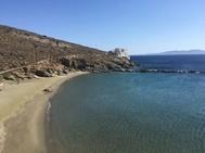 Imagen de una playa en la isla griega de Tinos